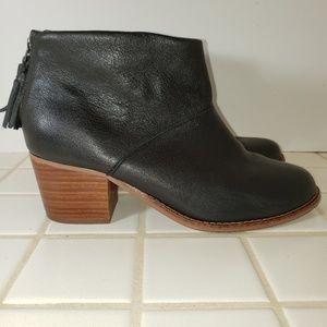 TOMS LEILA Carpe Diem Leather Bootie Tassel 7 EUC